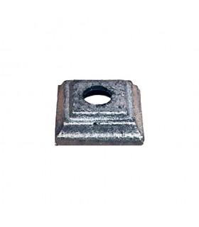 Cache scellement 50x50mm rond de ø16mm acier forgé pour barreaux