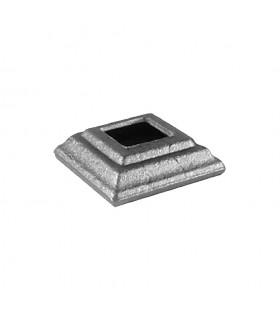 Cache scellement 60x60mm carré de 25x25mm pour balustres en acier