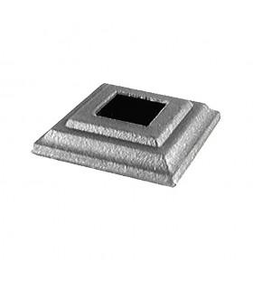 Cache scellement 100x100mm carré 50x50mm pour poteau ou barre aier forgé