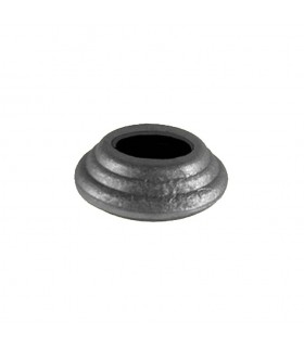 Cache scellement ø40mm pour rond ø16mm en acier forgé pour barres
