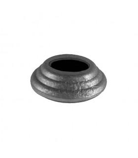 Cache scellement ø60mm pour rond ø25mm acier pour balustres et barres