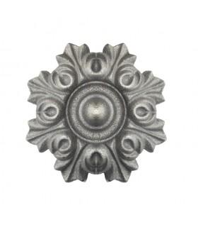 Rosace fonte Ø130mm épaisseur 31mm décoration pour les bas de portails