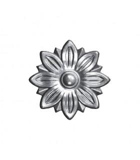 Rosace acier Ø55mm épaisseur 10mm décorations diverses pour portillons