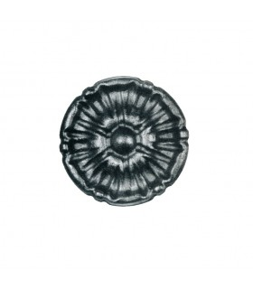 Rosace acier Ø55mm épaisseur 12mm décorative pour orner les structures métalliques