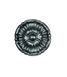 Rosace acier Ø90mm épaisseur 12mm décorative pour orner les structures métalliques