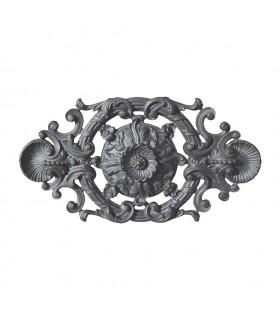 Palmette en fonte 410x215mm épaisseur 25mm pour portails ou vérandas