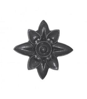Rosaces en fonte 85x85mm épaisseur 12mm décoration de structures métal