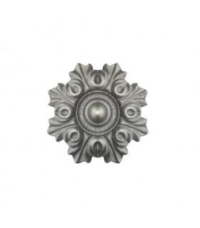 Rosace fonte Ø80mm épaisseur 18mm décorative de structures métal