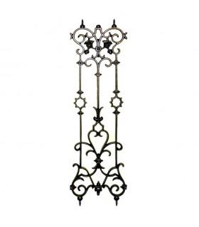Décoration fonte double face 900x280mm idéale pour balcons balustrades