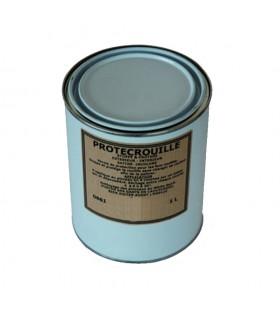 Vernis satiné pour le fer pot de 1 litre Stoppe et protège la rouille sans changer sa couleur