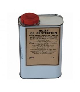Huile de protection métal 1 litre Permet de renforcer les couleurs et de protéger la rouille
