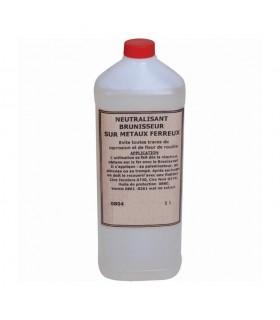Neutralisant brunisseur fer bidon 1 litre A utiliser pour stopper l'effet du brunisseur métaux
