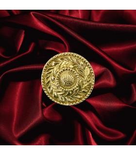 Rosace laiton polie Ø62mm épaisseur 9mm pour décorations en intérieurs