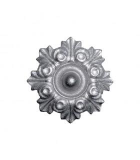 Rosace fonte zinguée Ø100mm épaisseur 22mm pour bas de portails