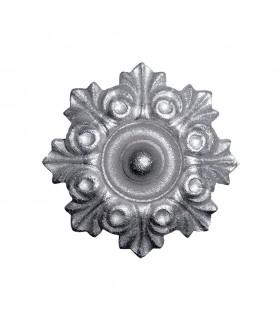 Rosace fonte zinguée Ø130mm épaisseur 31mm pour portails et portillons