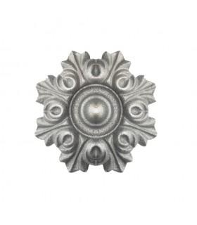 Rosace aluminium Ø100mm épaisseur 22mm décoration pour portails et portillons