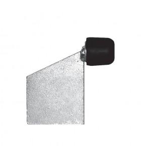 Butée arretoir sur platine en acier galvanisé à souder. Butoir caoutchouc