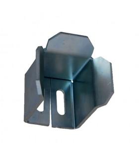 Arrêtoir avaloir pour tube de 50x50mm de portail coulissant