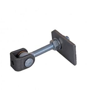 Gond charnière réglable M6 2 dimensions à souder sur poteau et vantail