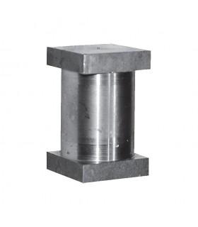 Axe pour gond réglable tiube de 35x35mm extérieur en acier à souder