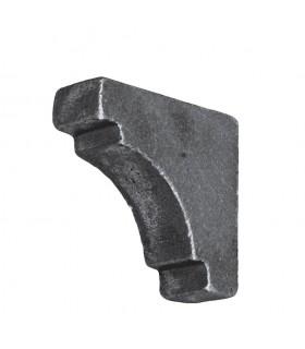 Renfort d'angle acier pour tube de 30x30mm à souder pour renforcer