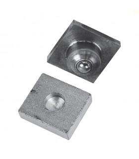 Pivot inférieur pour tube ou carré de 30x30mm à bille en acier grandes charges