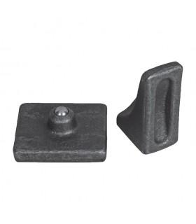 Pivot à bille désaxé Ø24mm grande charge à souder sur portail ou portillon