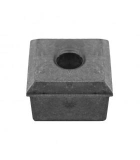 Jonction de crapaudine 40x40mm trou ø12mm aluminium pour tube