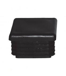 Bouchon nylon 30x30mm plein pour tube carré épaisseir entre 1 et 3 mm