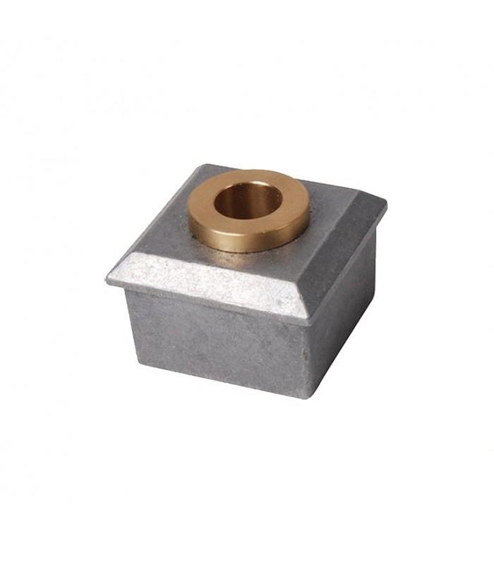 Jonction de Crapaudine 40x40mm alésage ø12mm aluminium et laiton