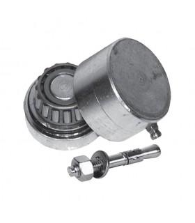 Pivot bas en INOX Ø45mm pour 30x30mm fortes charges avec graisseur