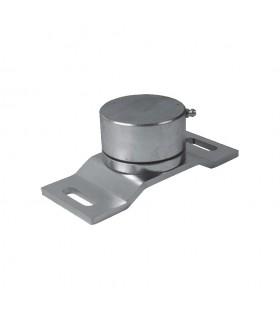 Pivot inférieur à roulement ø70mm sur platine support.