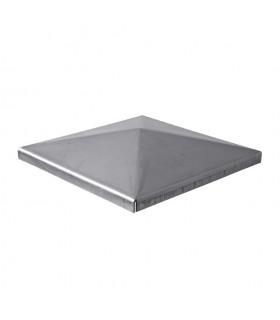 Couvre pilastre acier 100x100mm couvre poteau à souder