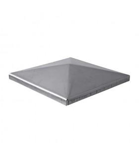 Couvre pilastre acier 120x120mm couvre poteau à souder
