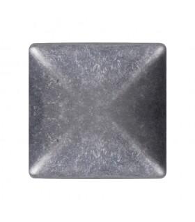 Couvre pilastre 60x60mm aluminium chapeau couvre poteau à coller