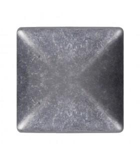 Couvre pilastre 80x80mm aluminium chapeau couvre poteau à coller