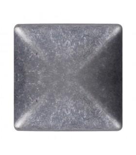 Couvre pilastre 100x100mm aluminium chapeau couvre poteau à coller