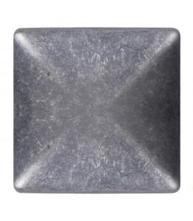 Couvre pilastre 120x120mm aluminium chapeau couvre poteau à coller
