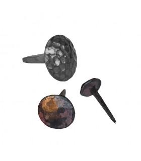 Clou martelé Ø30mm à tête ronde décorative et pointe effilée