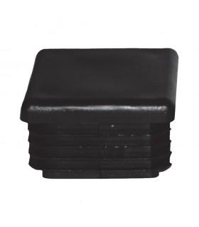 Bouchon nylon 60x60mm plein pour tube carré épaisseur 2 à 4mm