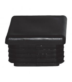 Bouchon nylon 80x80mm plein pour tube carré épaisseur 2 à 4mm