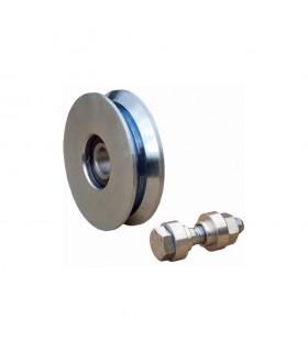 Roulette acier Ø60mm à gorge en V pour portails coulissants