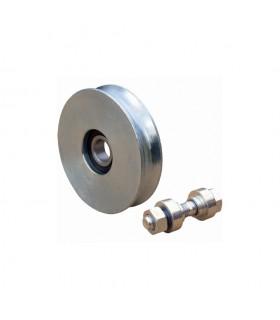 Roulette acier Ø60mm à gorge en U pour portails coulissants