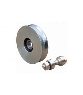 Roulette acier Ø80mm à gorge en U pour portails coulissants