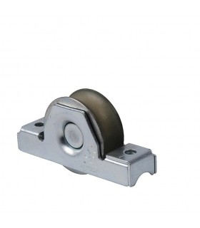 Roulette à encastrer Ø50mm gorge en U bandage polyamide anti-pincement