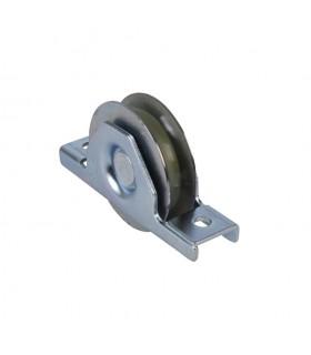 Roulette à encastrer Ø80mm gorge en U bandage polyamide pour portails coulissants