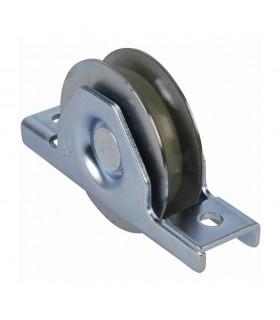 Roulette à encastrer Ø100mm gorge en U bandage polyamide pour portails coulissants