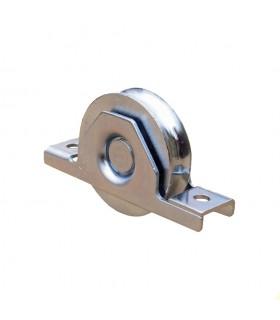 Roulette à encastrer Ø100mm avec gorge en U double roulement à billes