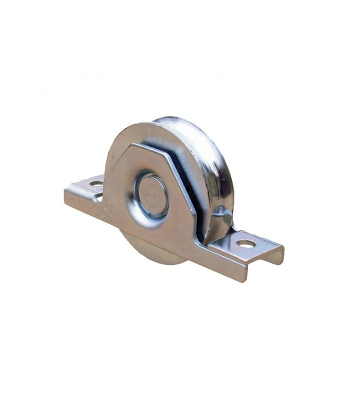 Roulette INOX à encastrer Ø80mm gorge en U pour portails coulissants