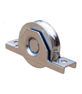Roulette INOX à encastrer Ø100mm gorge en U pour portails coulissants